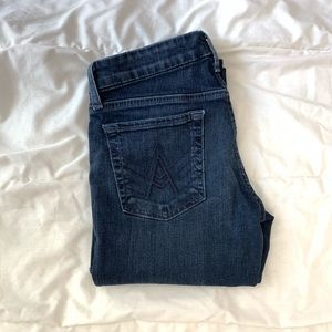 7 For All Mankind Dark Wash Flared Jeans